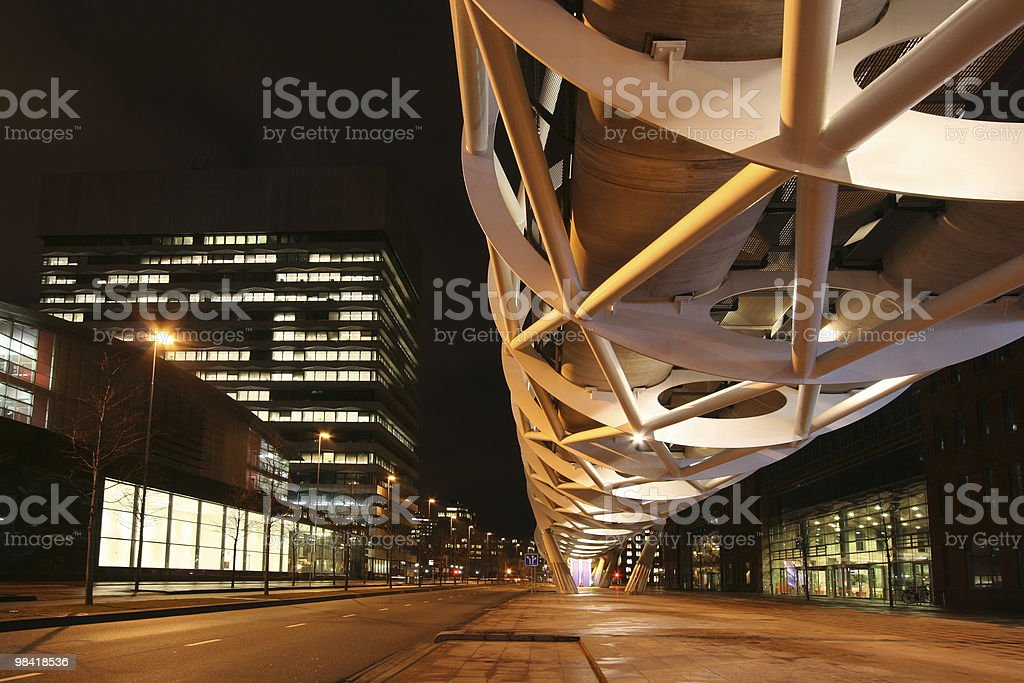 The Hague at Night stock photo