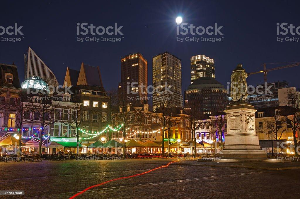 The Hague downtown stock photo