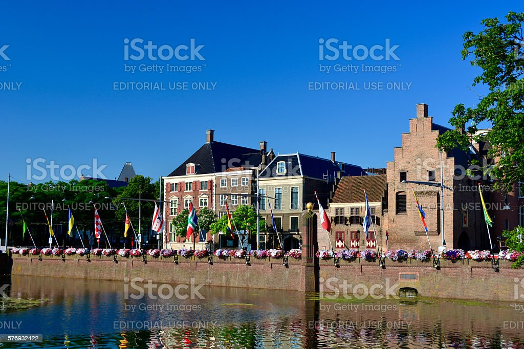 The Hague, flags stock photo