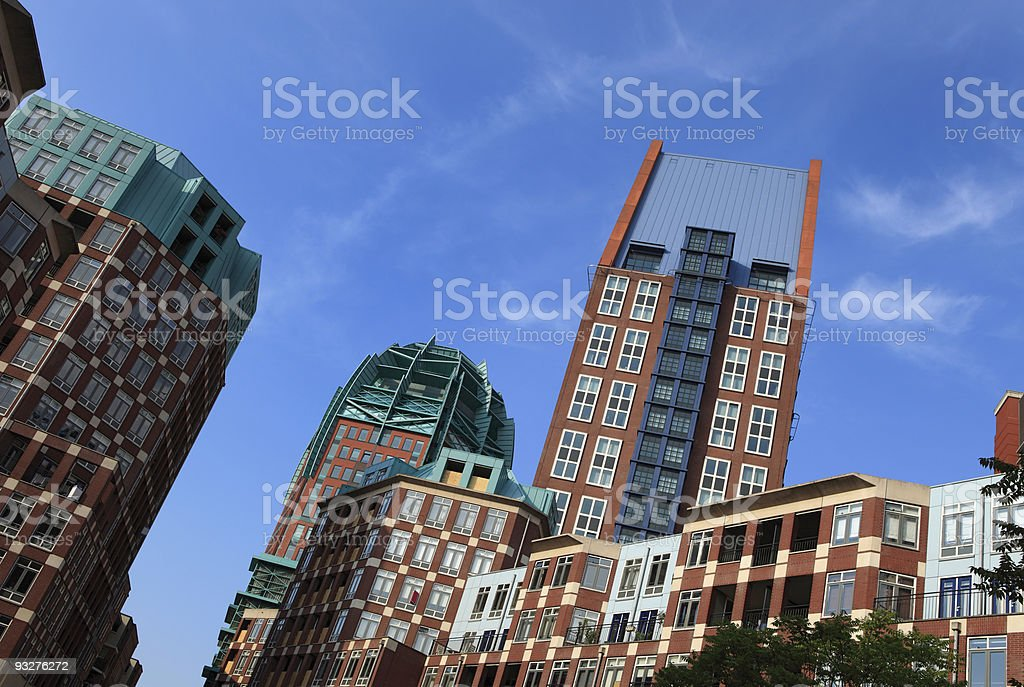 The Hague's modern architecture royalty-free stock photo