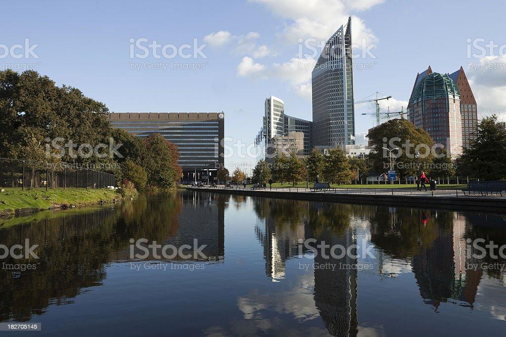 The Hague's modern skyline royalty-free stock photo