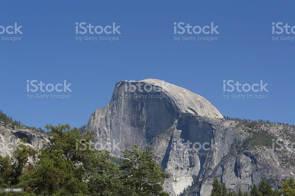 The Half Dome in Yosemite stock photo