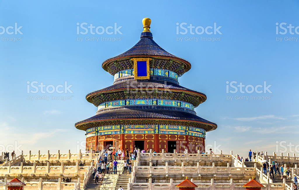 The Hall of Prayer for Good Harvests in Beijing stock photo
