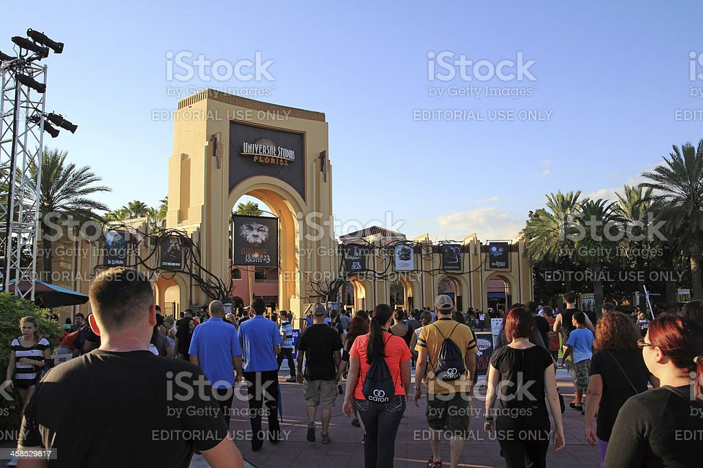 The Halloween Horror Nights stock photo