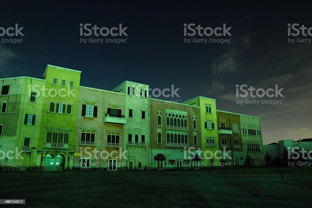 The Halloween of the ruins. stock photo