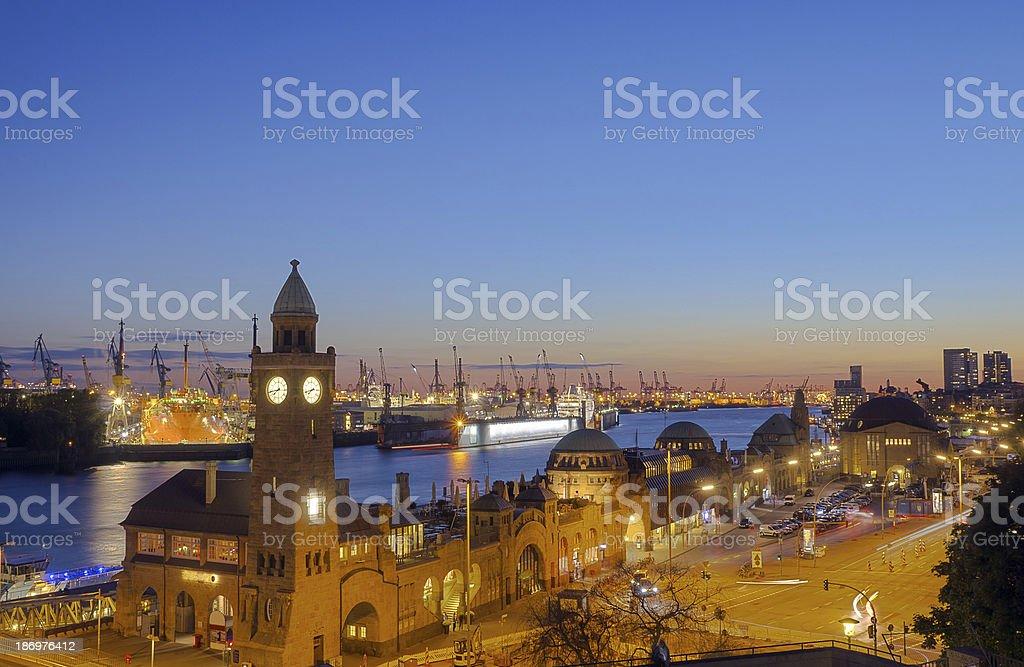 The Hamburg harbor stock photo