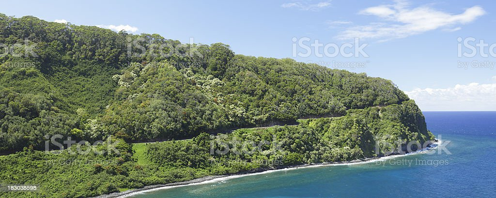 The Hana Coast in Maui stock photo