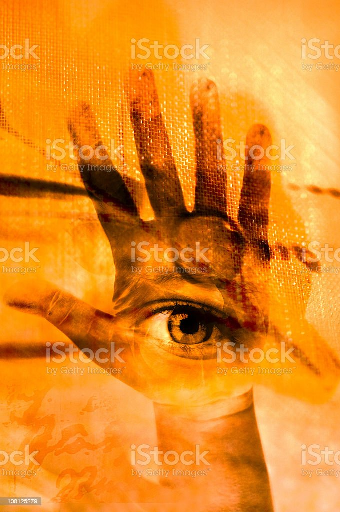 The hand of cyclop stock photo