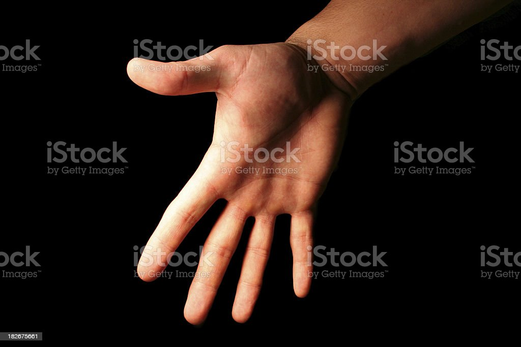 The Hand that Feeds You royalty-free stock photo