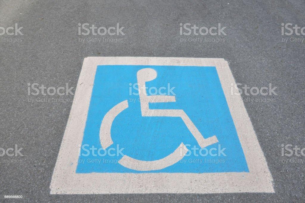 The handicap sign stock photo