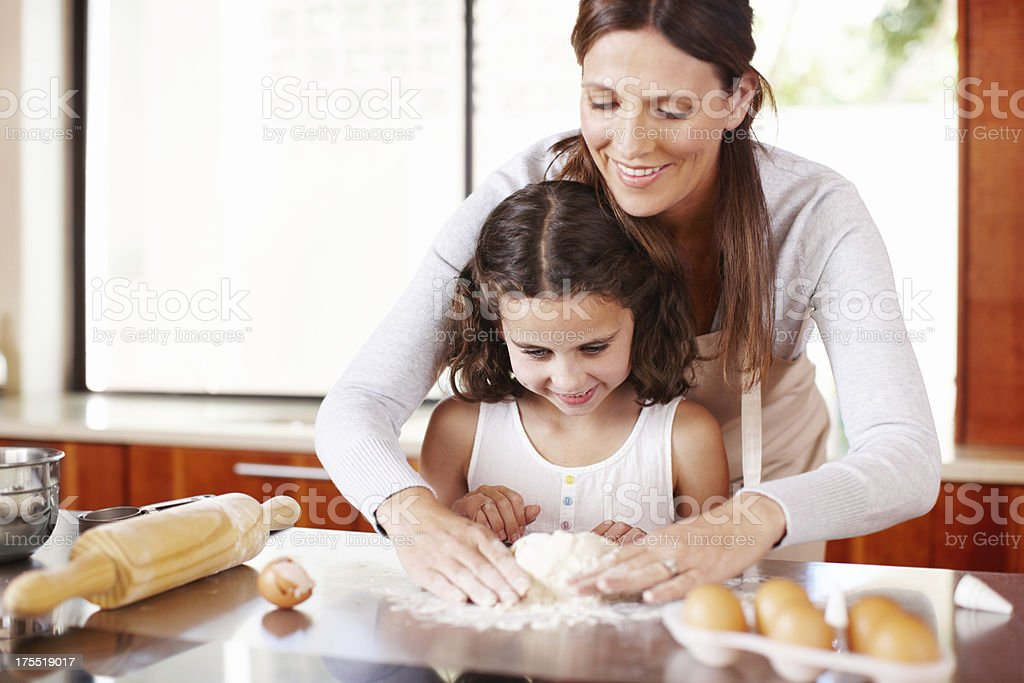 The hands-on approach to baking royalty-free stock photo