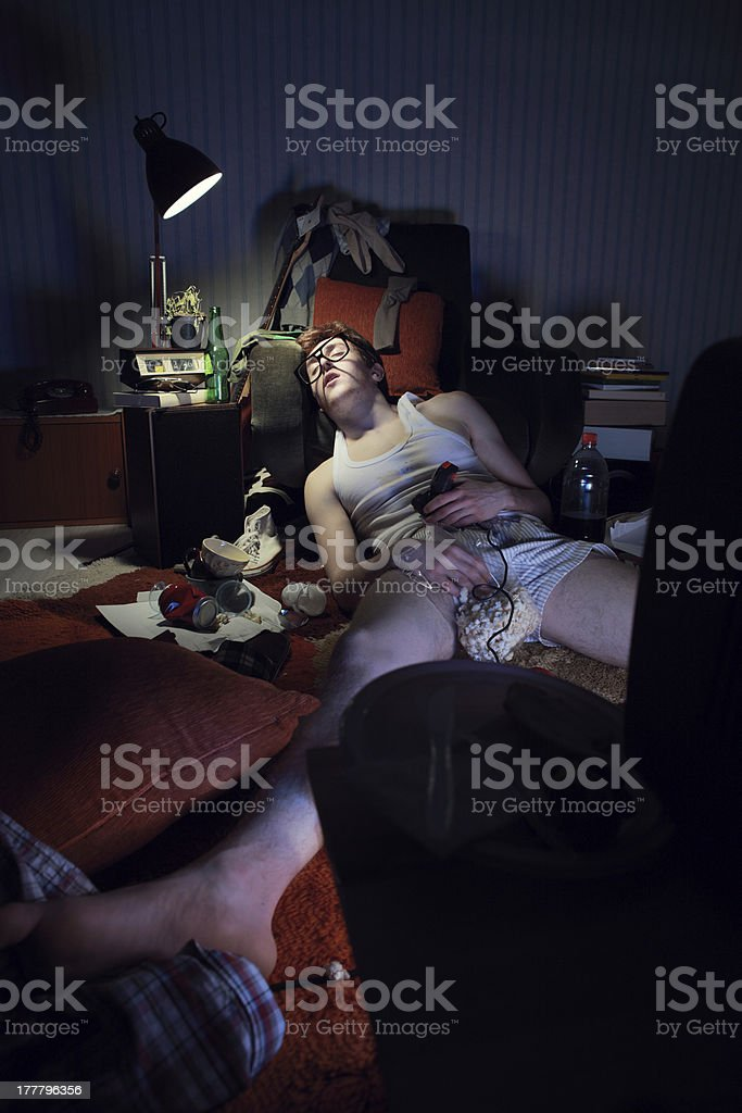 The Hangover royalty-free stock photo