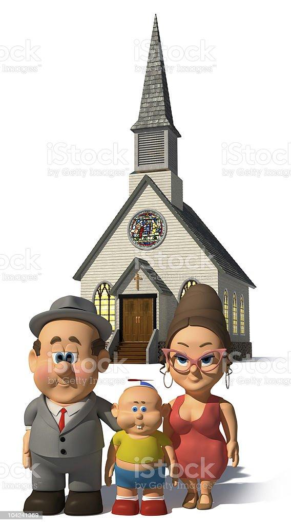 The Happy Family stock photo