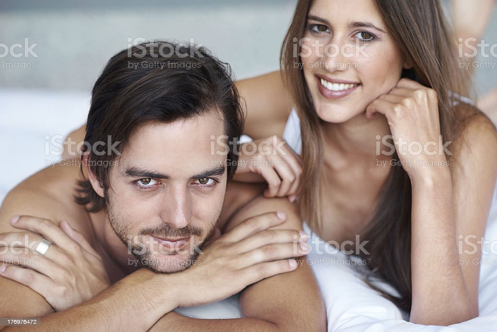 The happy young couple royalty-free stock photo