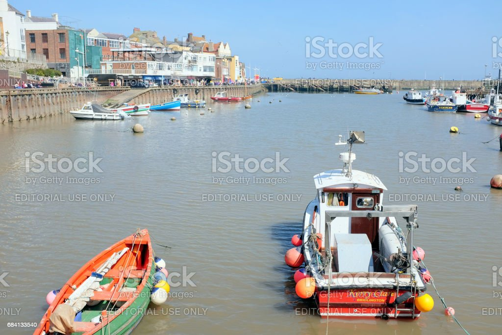 The harbor, Bridlington, Yorkshire. stock photo