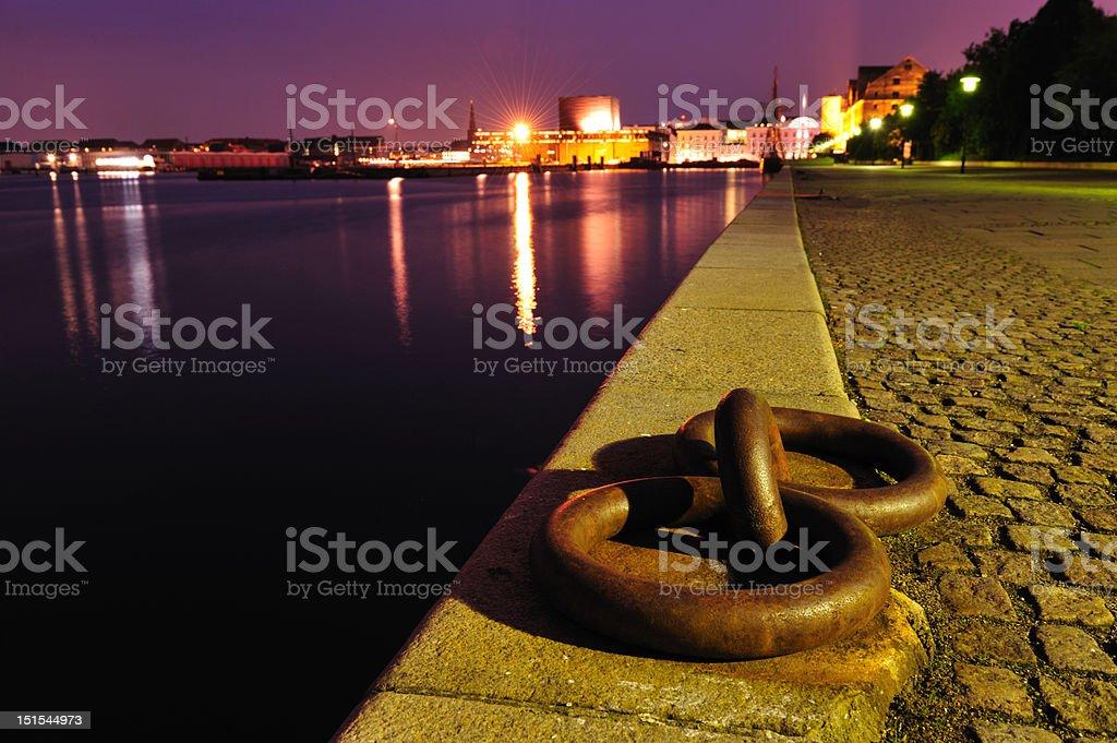 The harbor of Copenhagen Denmark royalty-free stock photo