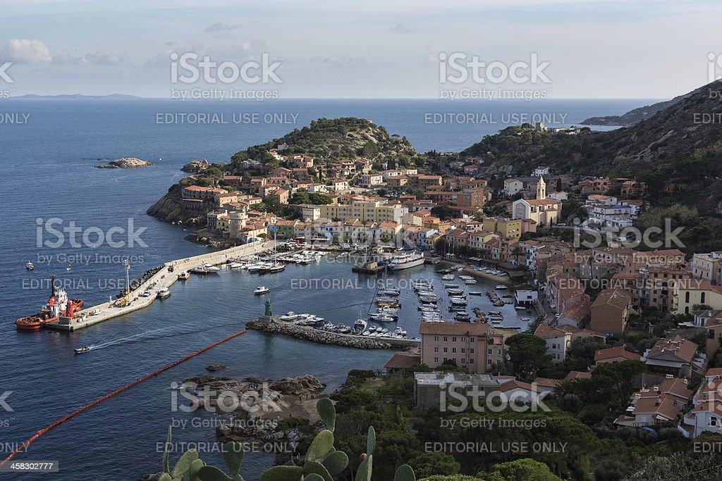 The Harbor Of Giglio Island stock photo