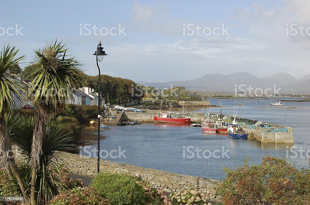 The harbor of Roundstone Connemara royalty-free stock photo