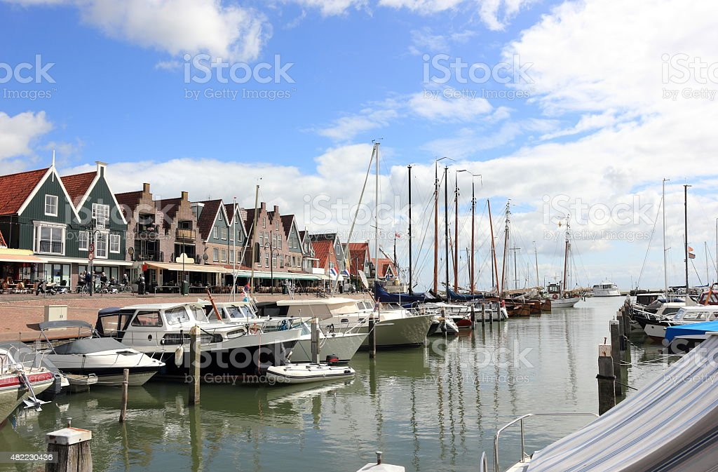 The Harbor of Volendam. The Netherlands. stock photo
