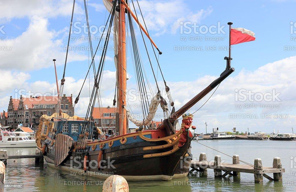 The Harbor of Volendam. The Netherlands. stock photo