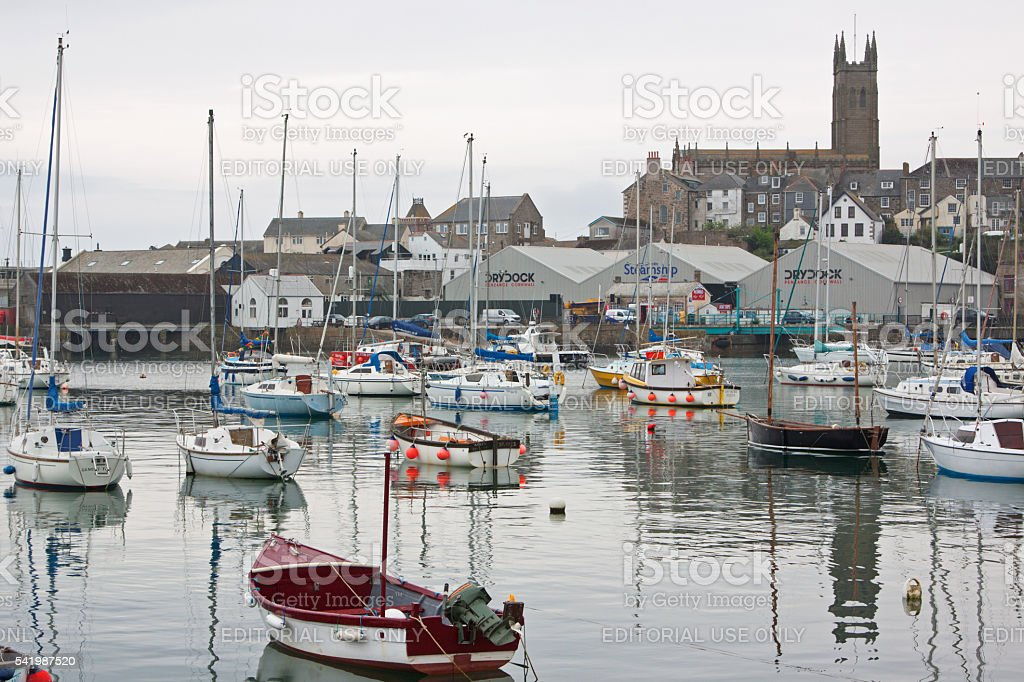 The harbour at Penzance UK stock photo