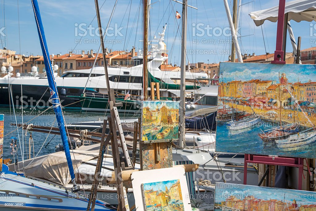 The Harbour At St Tropez stock photo