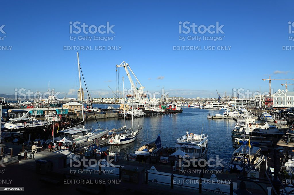 The Harbour of Cape Town in South Africa stock photo