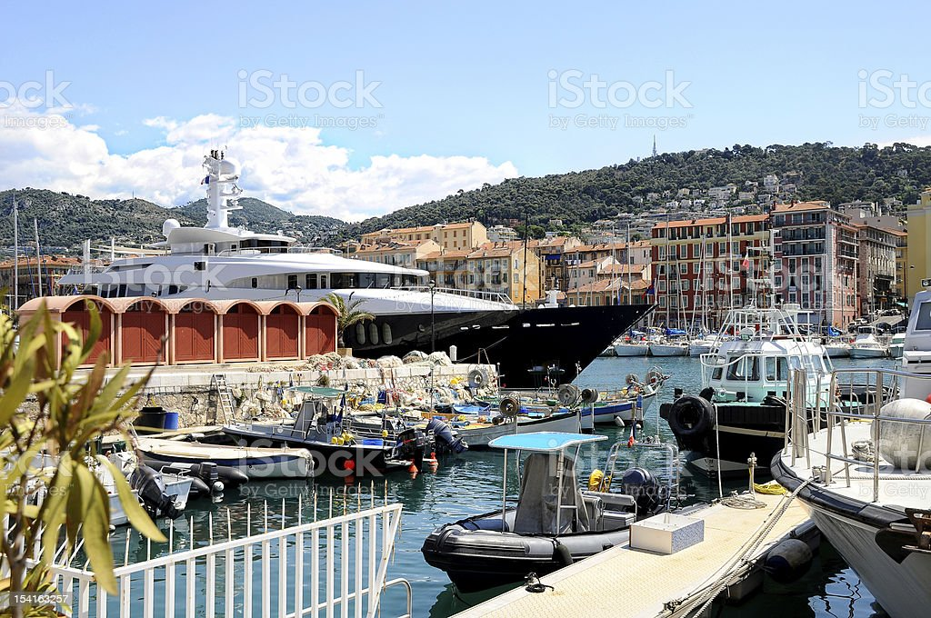 The harbour of Nice, France royalty-free stock photo