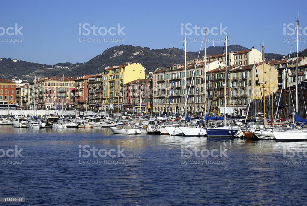 The harbour of Nice royalty-free stock photo