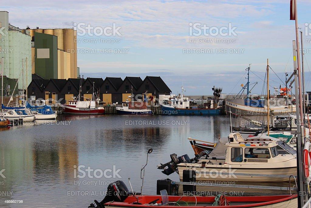 The harbour of Ystad, Sweden. stock photo