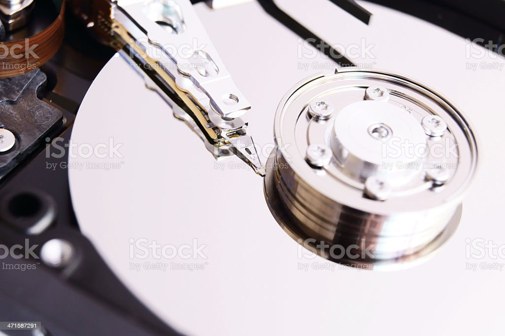 The hard drive. royalty-free stock photo