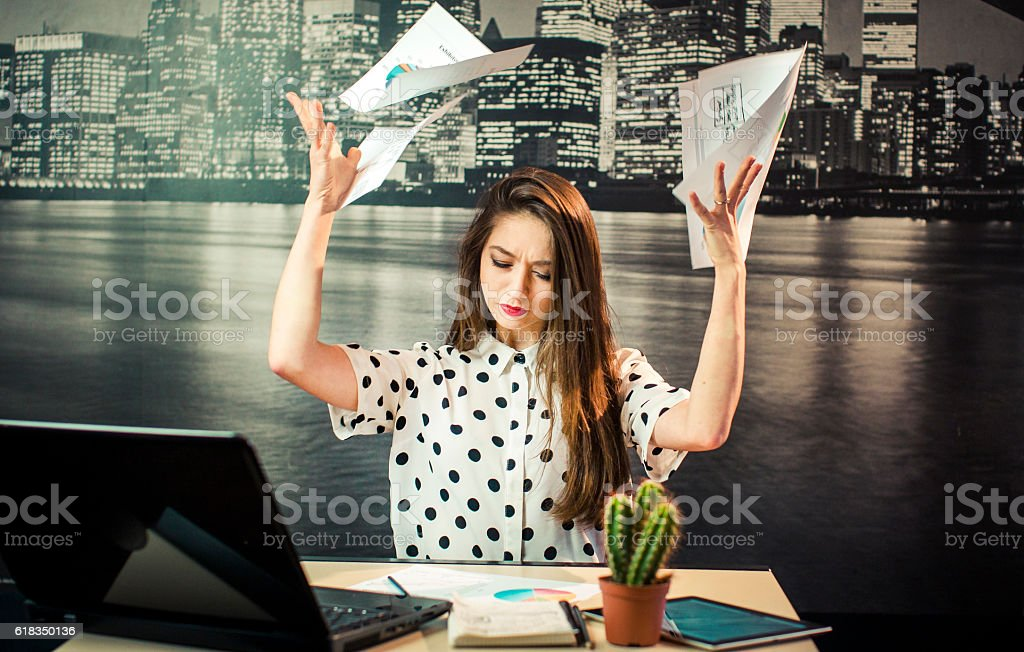The Hardworking Stress stock photo