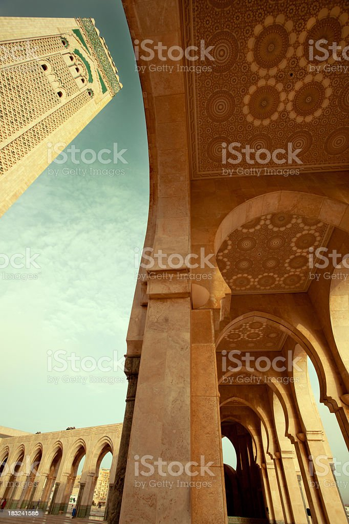 The Hassan II Mosque royalty-free stock photo