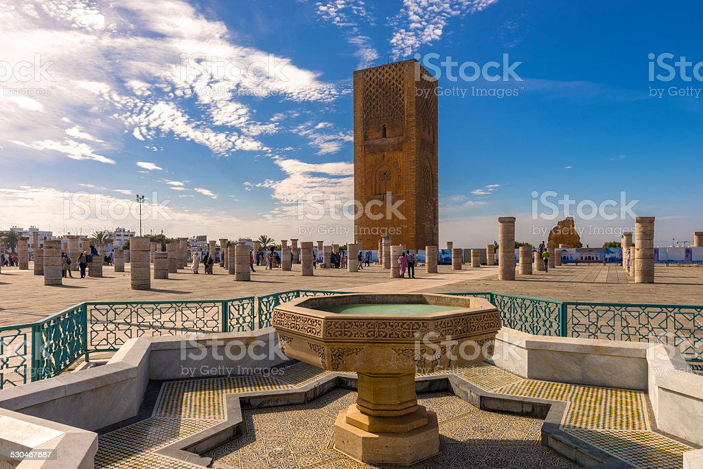 The Hassan Tower in Rabat, Morocco stock photo