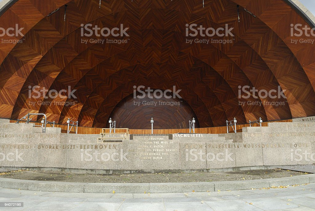The Hatch Shell, located at Boston's Esplanade stock photo