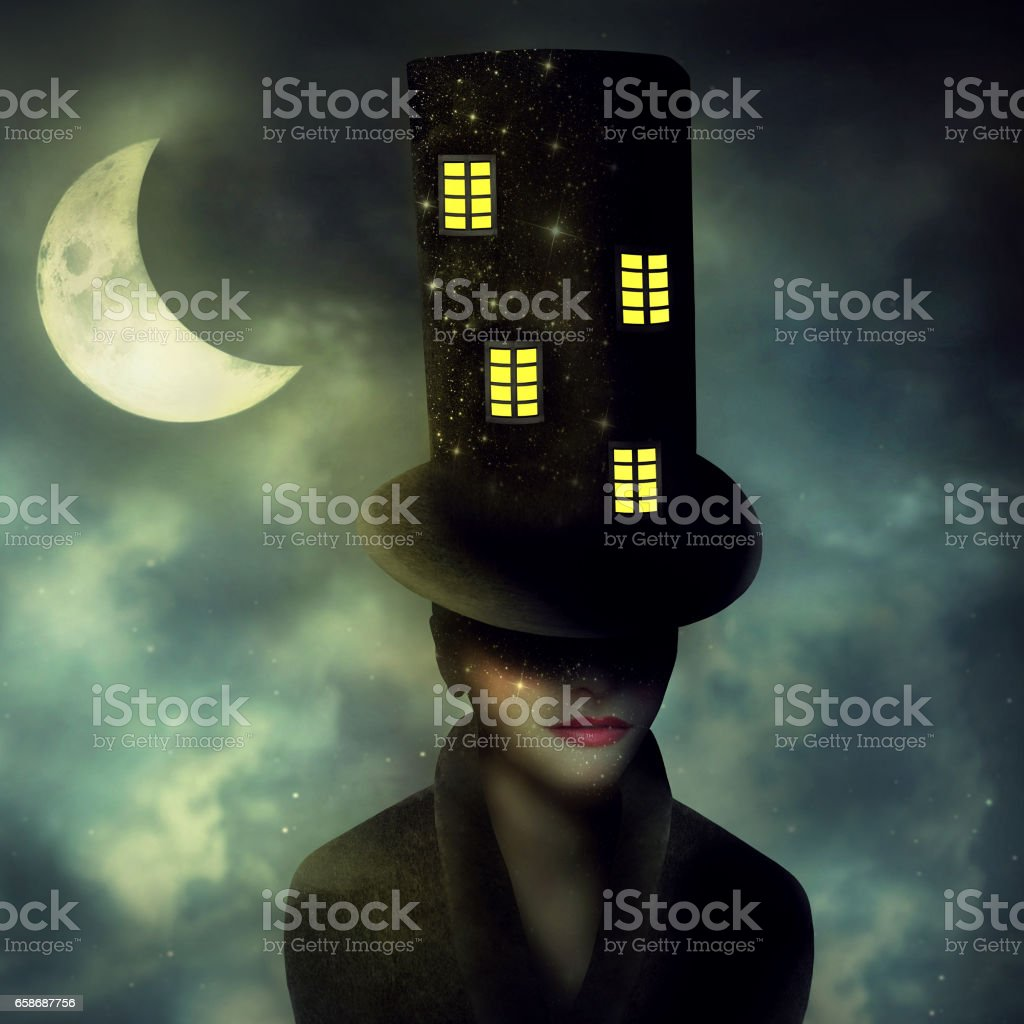 The Hatter stock photo