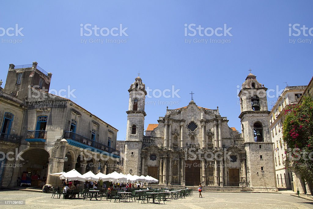 The Havana Cathedral in Cuba. royalty-free stock photo