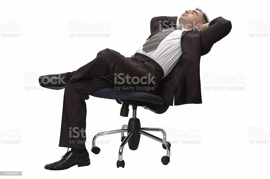 The having a rest businessman. Isolated on white. royalty-free stock photo