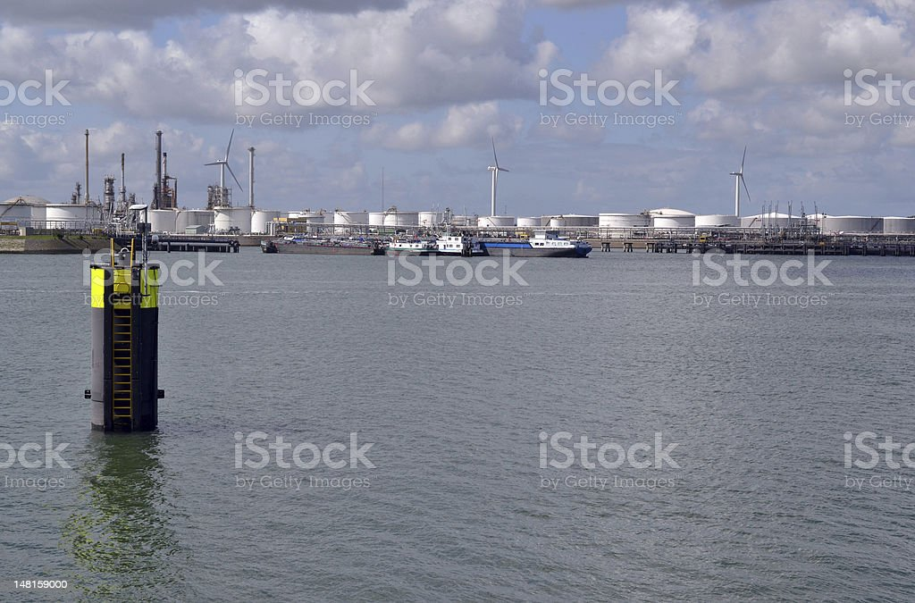 The headland at Rozenburg. stock photo