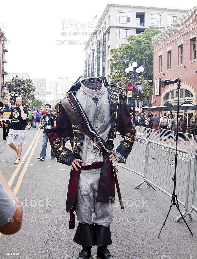 The Headless Horseman at Comic Con royalty-free stock photo