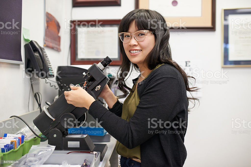 The health of your eyes is my top priority stock photo