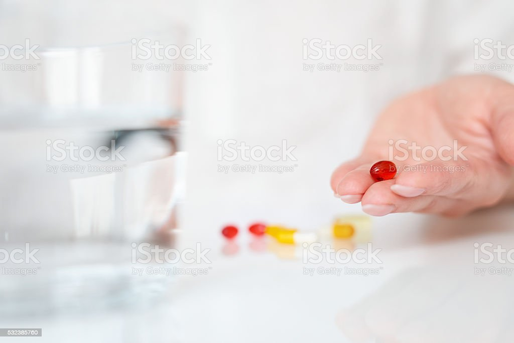 the healthy lifestyle is in your hand stock photo