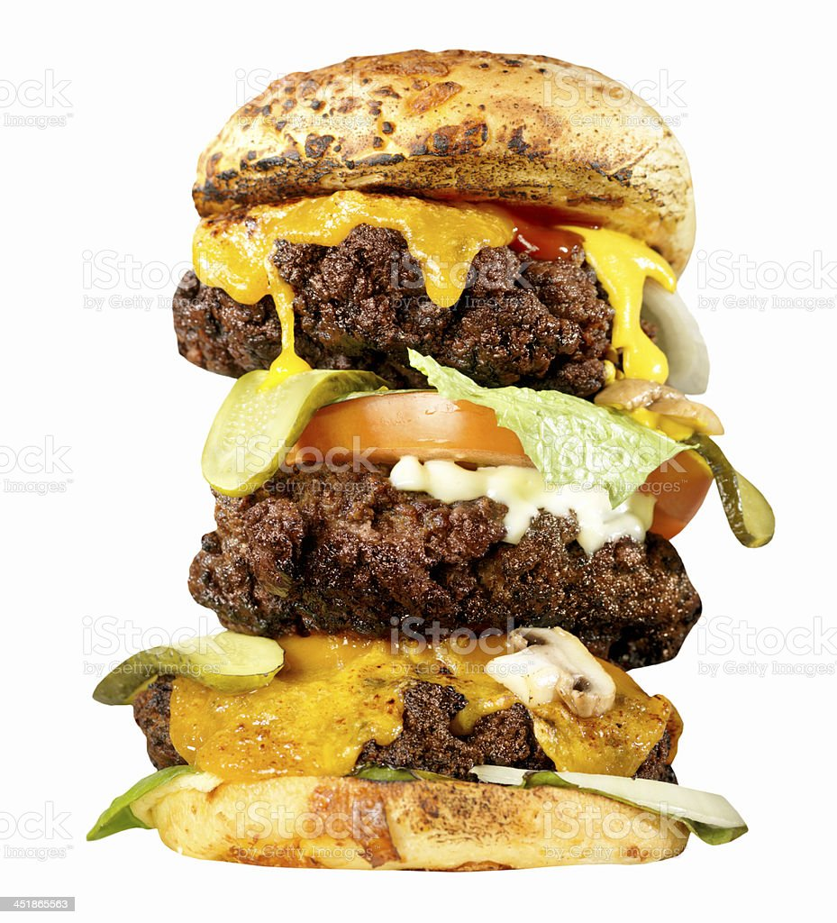 The Heart Attack  Burger royalty-free stock photo