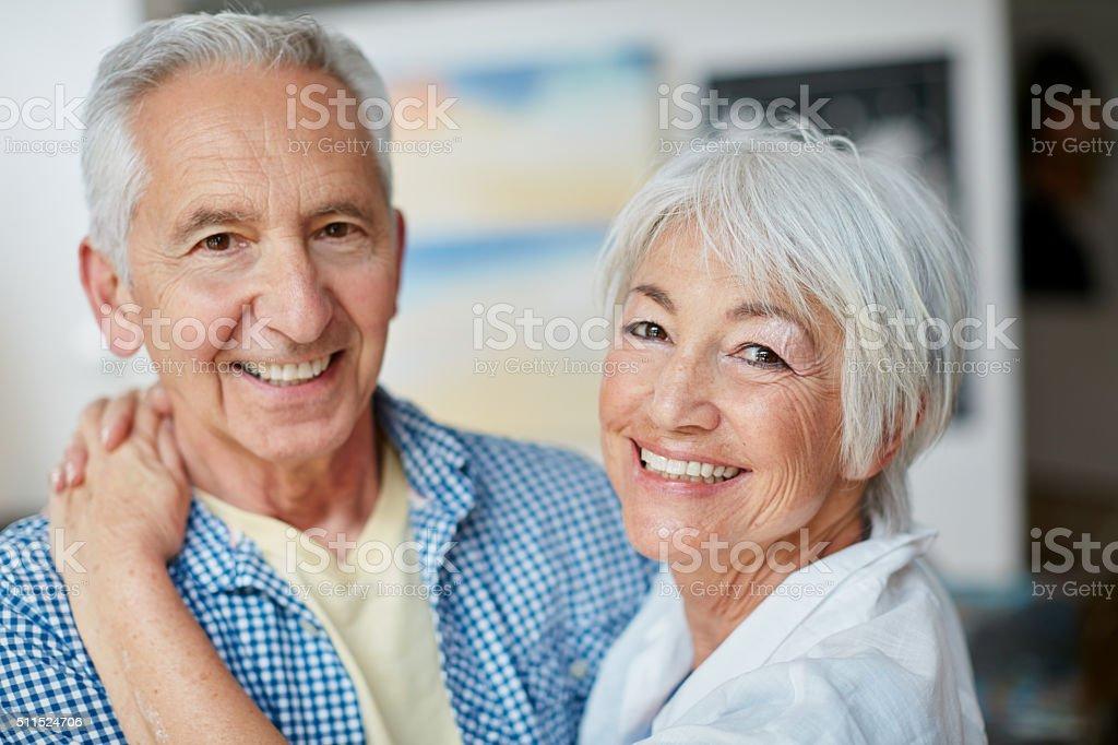 The heart has no wrinkles stock photo