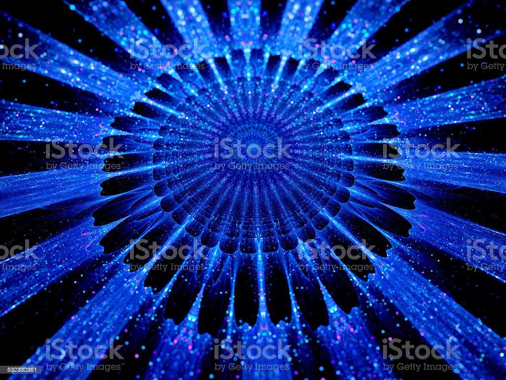 The heart of blue mandala stock photo