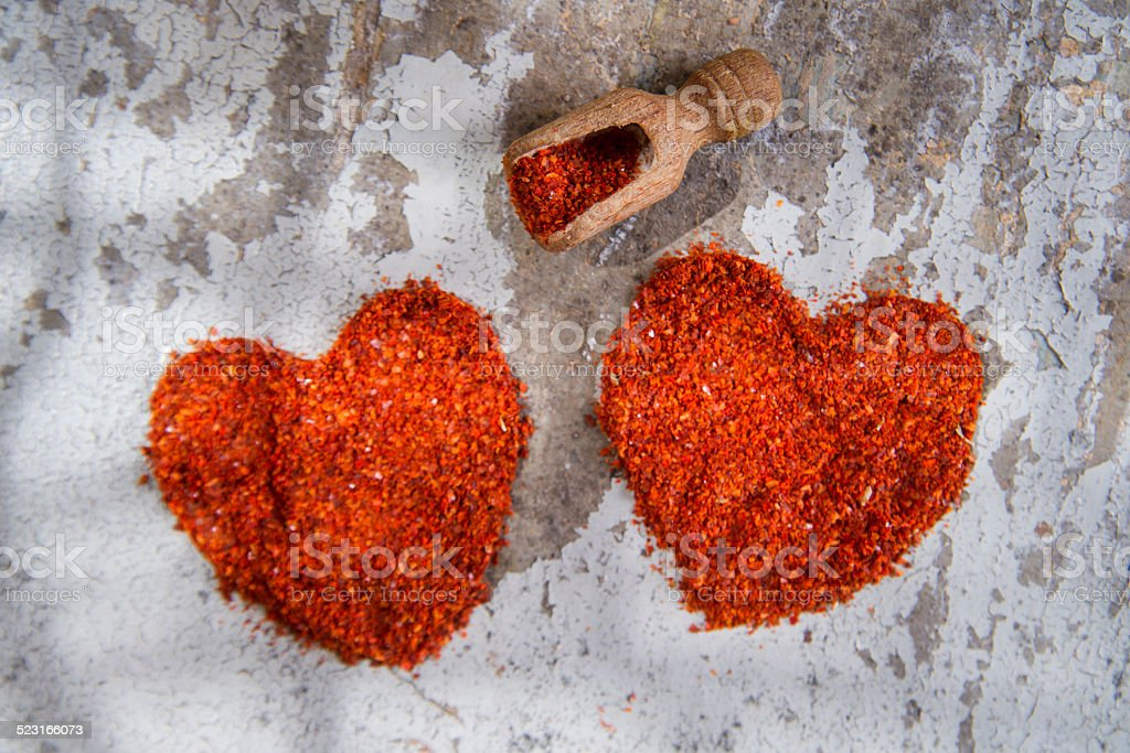 The heart of chilli stock photo