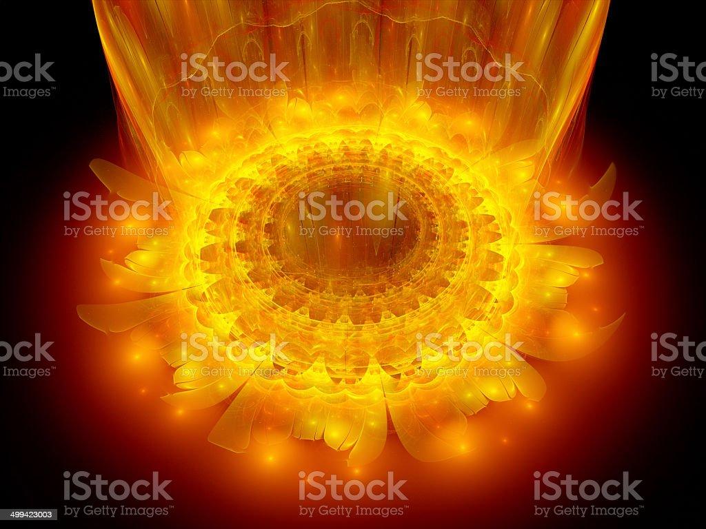 The heart of fire mandala stock photo