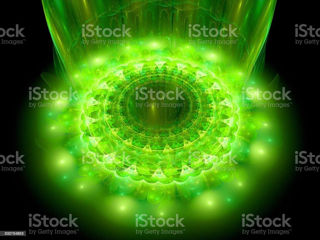 The heart of green mandala stock photo