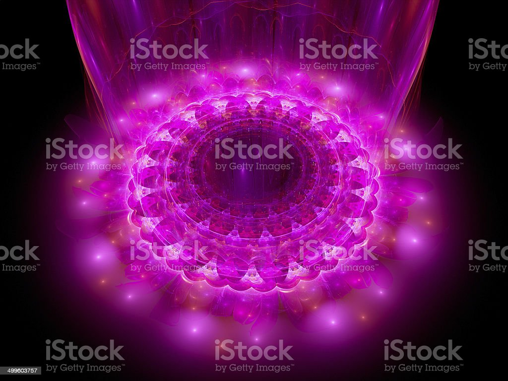 The heart of purple mandala royalty-free stock photo