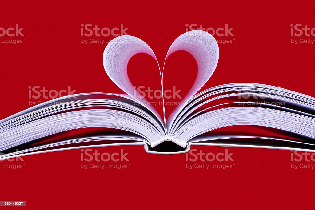 The heart of the book stock photo